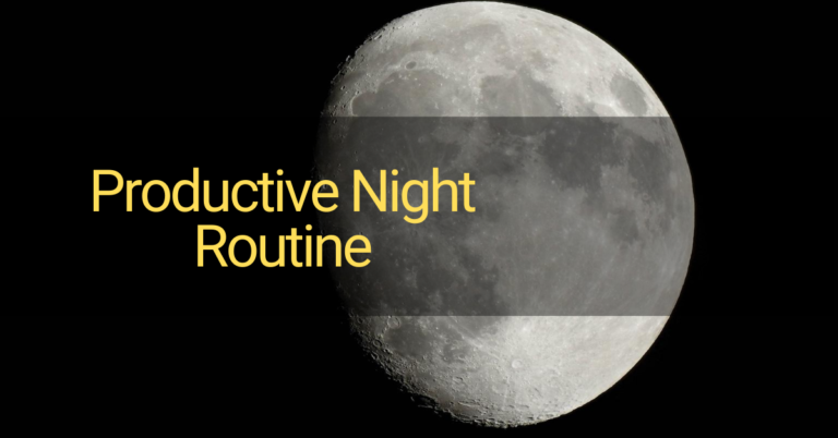 productive-night-routine