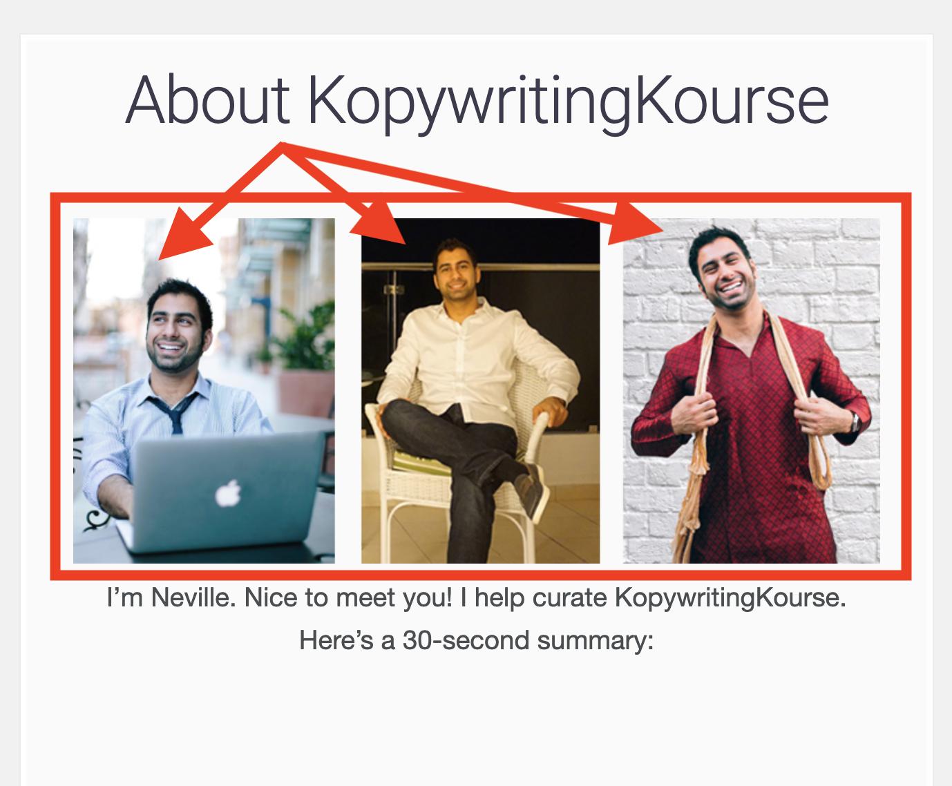 KopywritingKourse About page