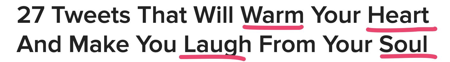 Buzzfeed Headline With Enjoyment Power Words