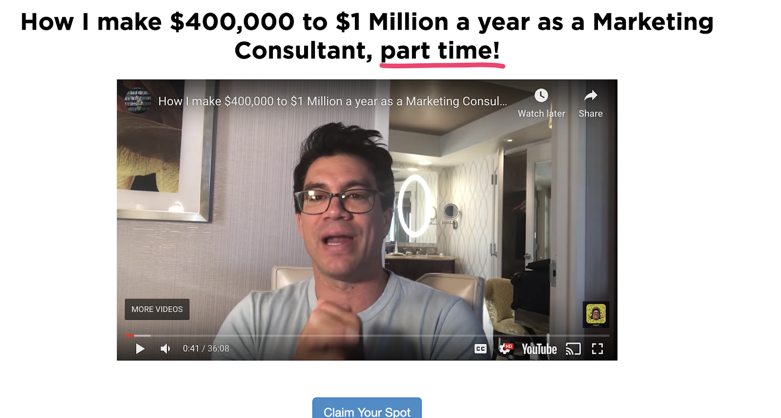 Tai Lopez Landing Page With Power Words