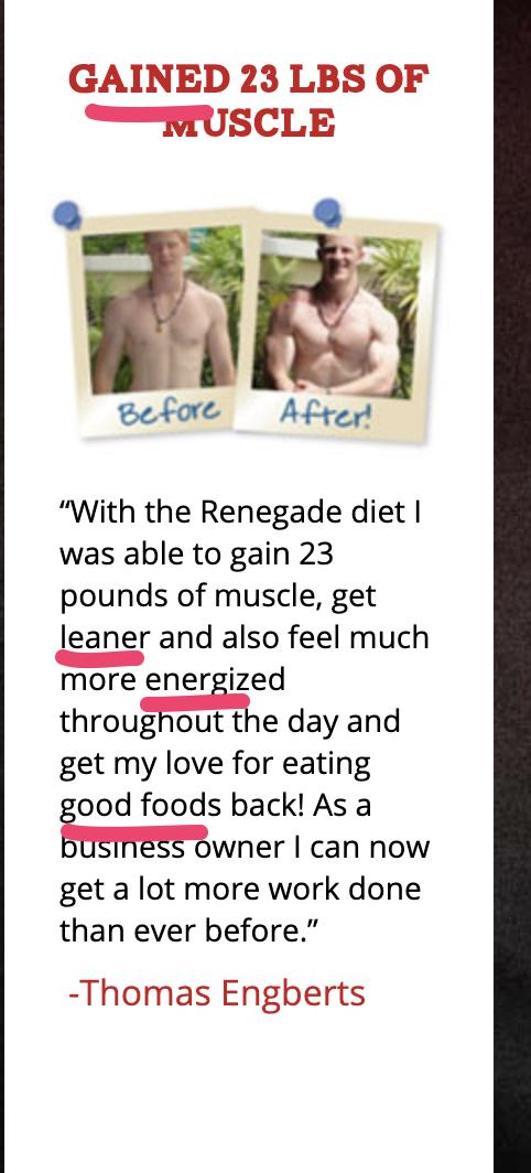 Renegade using power words