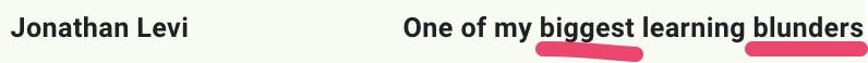 Jonathon Levi's email