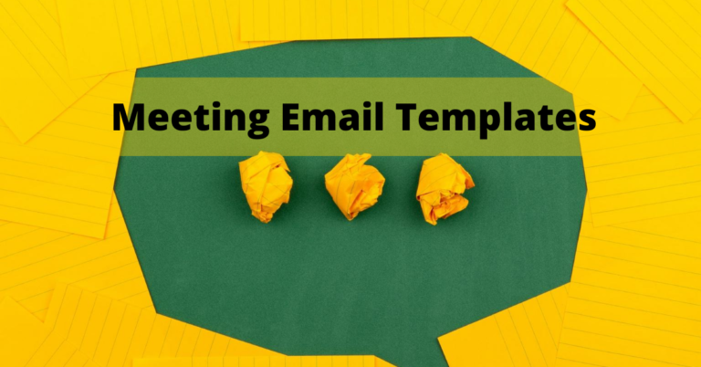 Meeting Email Templates