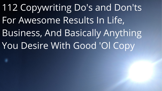 Blog banner on copywriting dos and don'ts