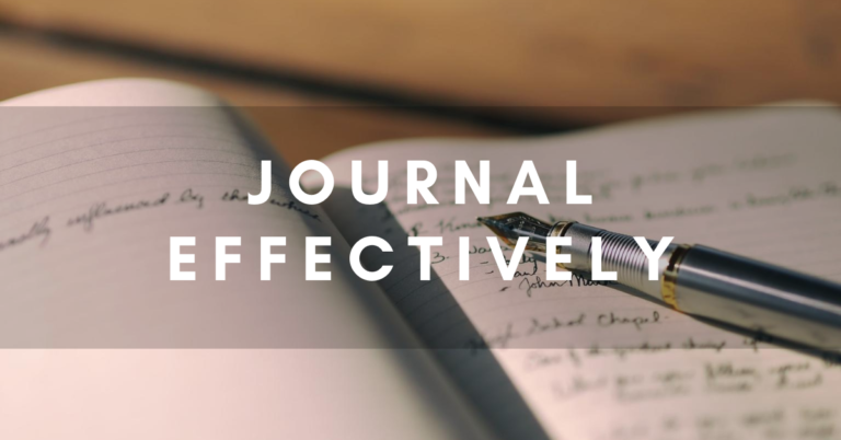 journal effectively