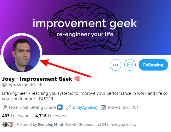 Improvement geek profile
