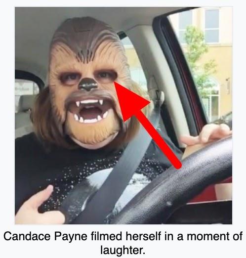 chewbacca masked lady